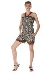 combinaison bustier short avec motifs style indien moucheté Arendal 288887
