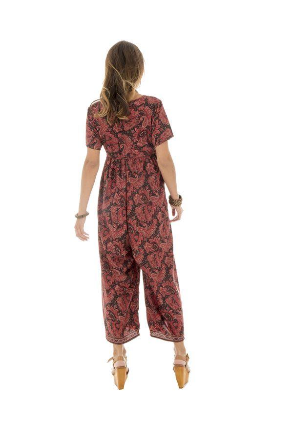 Combinaison longue pantalon 3/4 avec col rond Cordélia
