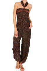 Combinaison-pantalon bohème coupe fluide et imprimé floral Casey 293044