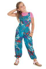Combinaison-pantalon colorée à bretelles avec imprimé floral bleue Anya 293993