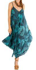 Combinaison pantalon colorée effet robe longue pour femme Tahira