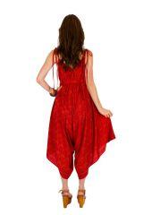 Combinaison-pantalon coupe asymétrique pourvue d'une ceinture rouge Erine 293441