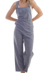 Combinaison-pantalon coupe salopette Grise Maliana 298208