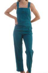 Combinaison-pantalon coupe salopette Petrole Maliana 298162