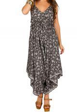 Combinaison-pantalon élégante pourvu d'un col en v bicolore Erine 293463
