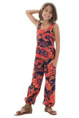 Combinaison-pantalon ethnique à bretelles avec imprimé floral  Anya 294005