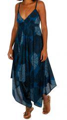 Combinaison pantalon femme à fines bretelles et un col en V décolleté Ania 306596