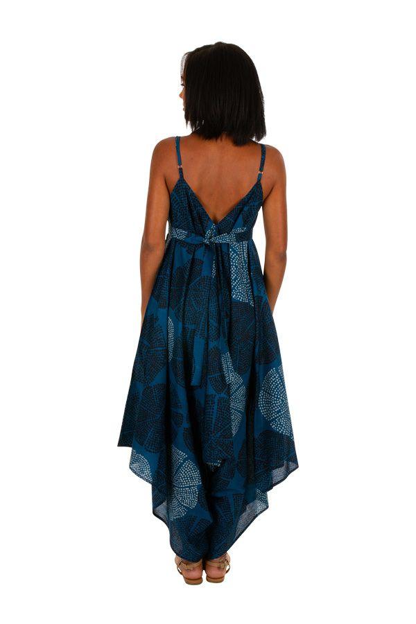 Combinaison pantalon femme à fines bretelles et un col en V décolleté Ania 306597