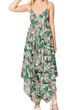 Combinaison pantalon femme originale chic imprimé nature tropical Akimi