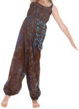 Combinaison pantalon Fille Ethnique et Imprimée Akela Marron et Bleue 279824