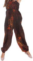 Combinaison pantalon Fille Ethnique et Imprimée Akela Marron et Orange 279822