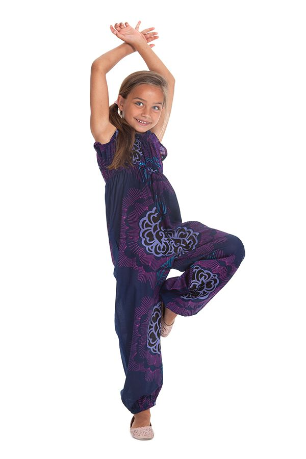 combinaison pantalon fille violette ethnique et imprimee akela. Black Bedroom Furniture Sets. Home Design Ideas