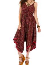 Combinaison-pantalon imprimée coupe ample et asymétrique Erine 293481