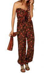 Combinaison pantalon imprimée de fleurs pour femme Valérie 305662