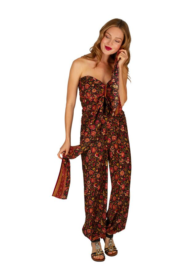 Combinaison pantalon imprimée de fleurs pour femme Valérie 305663