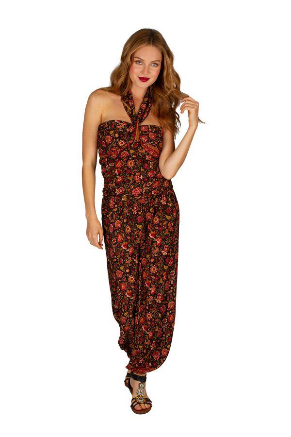 Combinaison pantalon imprimée de fleurs pour femme Valérie 305664