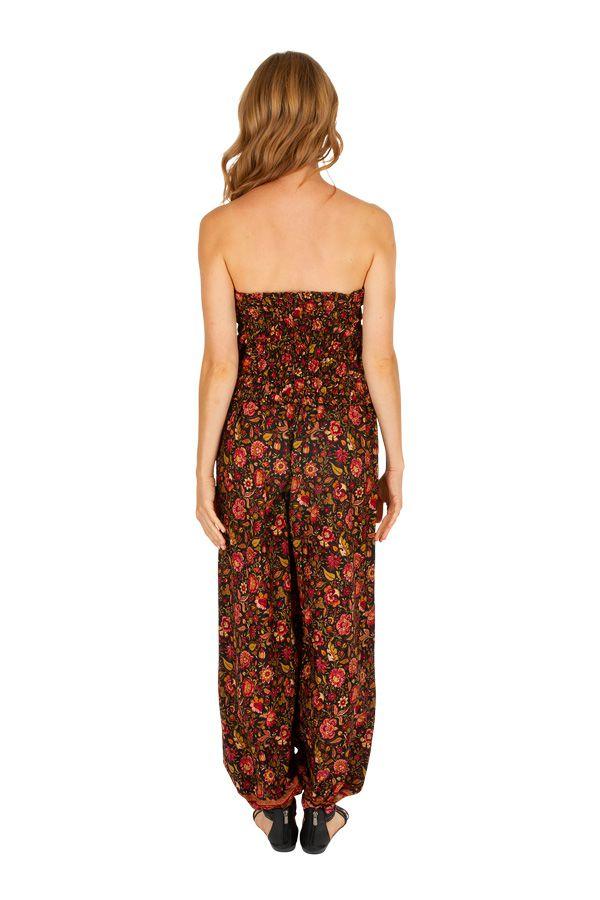 Combinaison pantalon imprimée de fleurs pour femme Valérie 305665
