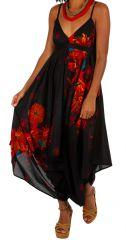 Combinaison pantalon large et fluide look bohème et ethnique Yvana 306568