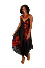 Combinaison pantalon large et fluide look bohème et ethnique Yvana 306569