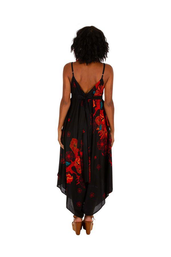 Combinaison pantalon large et fluide look bohème et ethnique Yvana 306570