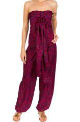 Combinaison-pantalon légère avec lien à nouer fuchsia Sorry 293187