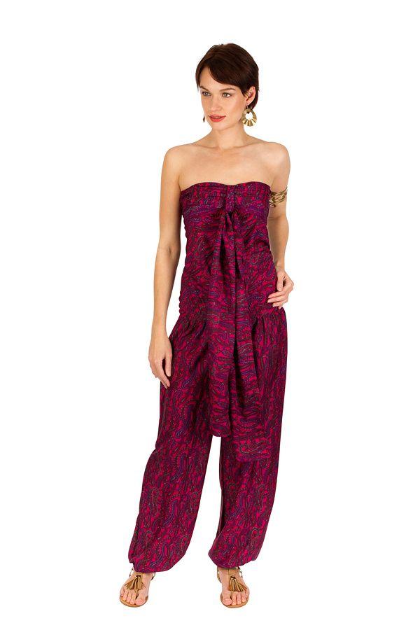 Combinaison-pantalon légère avec lien à nouer fuchsia Sorry 293188