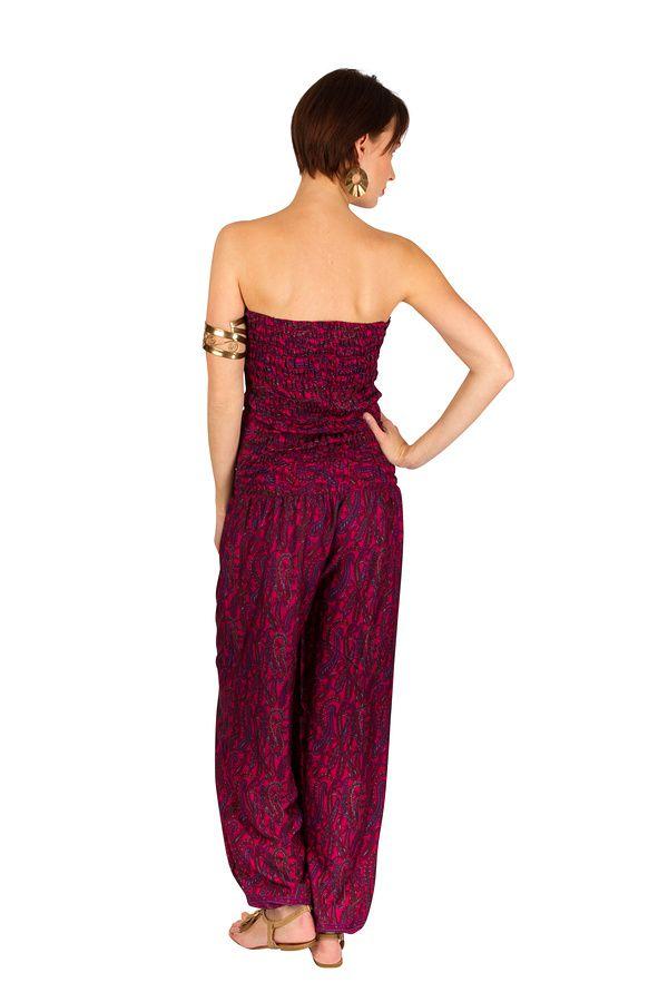 Combinaison-pantalon légère avec lien à nouer fuchsia Sorry 293189