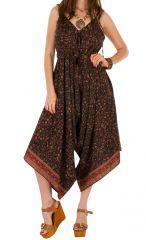 Combinaison-pantalon look bohème avec col en v Erine 293445