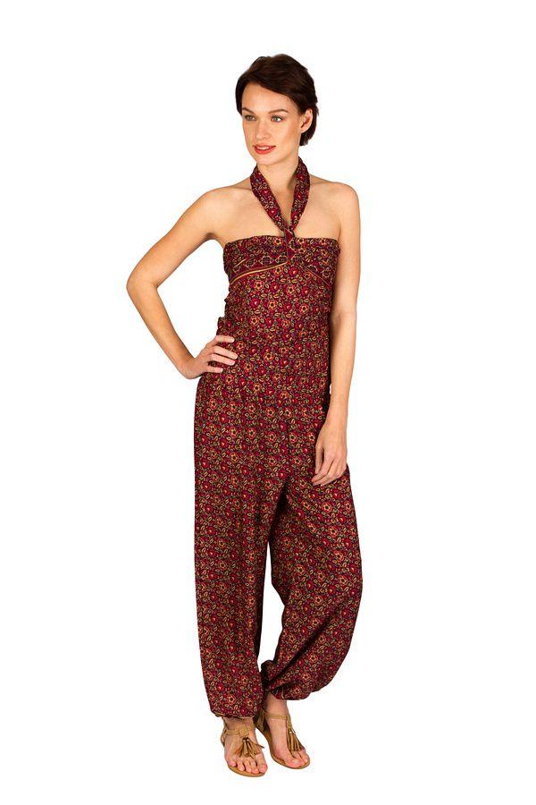Combinaison-pantalon look bohème avec lien à nouer Sorry 293257