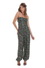 Combinaison-Pantalon Modulable et Ethnique Stalida Noire et Bleue 280850