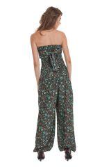 Combinaison-Pantalon Modulable et Ethnique Stalida Noire et Bleue 280851