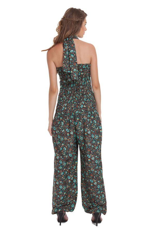 Combinaison-Pantalon Modulable et Ethnique Stalida Noire et Bleue 280852
