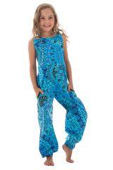Combinaison-pantalon originale à bretelles avec imprimé floral Anya 294014