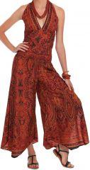 Combinaison-Pantalon pour Femme Rouille Ethnique et Originale Manuela 280879
