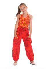 Combinaison Pantalon pour Fillette Originale et Colorée Arlo Orange 279809