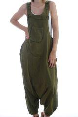 Combinaison-pantalon salopette fourche basse Kaki Marcella 298300