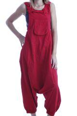 Combinaison-pantalon salopette fourche basse Rouge Marcella 302567