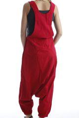 Combinaison-pantalon salopette fourche basse Rouge Marcella 302568