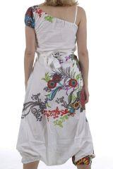 Combinaison sarouel ethnique aux imprimés colorés Brenda 310986