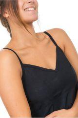 Combinaison sarouel ethnique original pour femme noir uni Kamail 303141