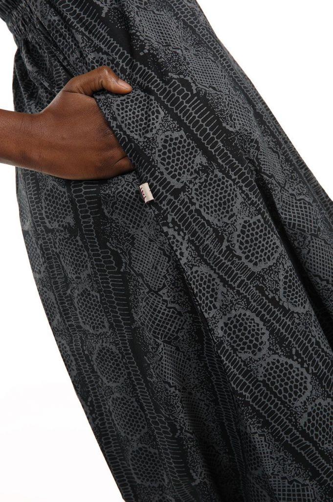 Combinaison sarouel grise à fines bretelles pour un look décontracté Ruline 305591