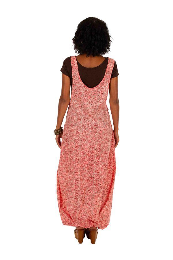 Combinaison sarouel look salopette avec un imprimé bohème Christelle 306552
