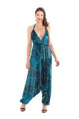 Combinaison Sarouel pour Femme Ethnique et Fluide Marcia Bleue 282074