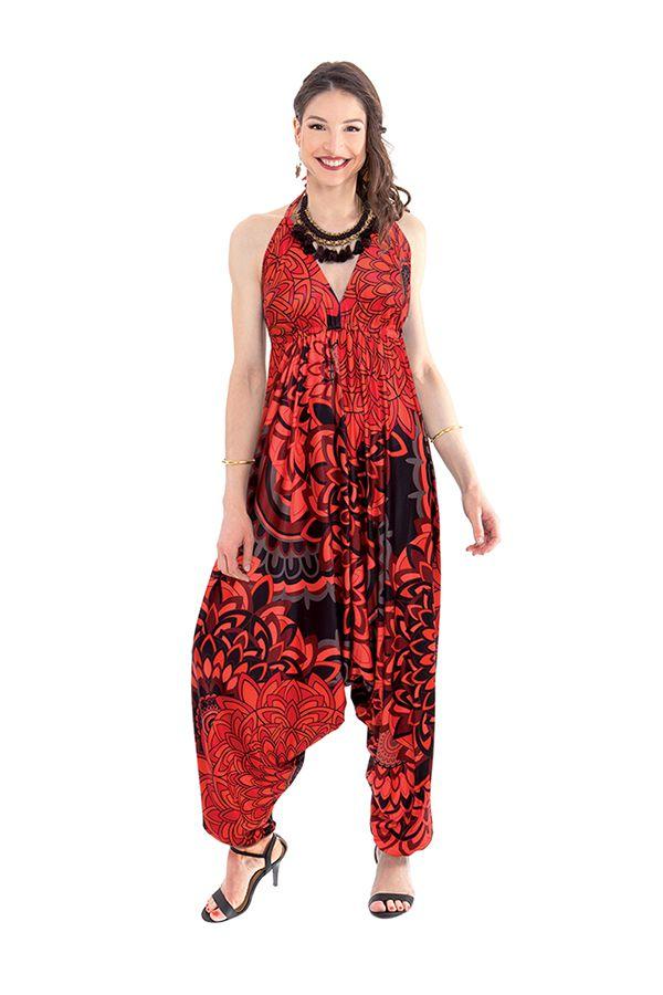 combinaison sarouel rouge pour femme fluide et ethnique marcia. Black Bedroom Furniture Sets. Home Design Ideas
