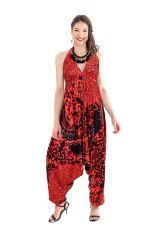 Combinaison Sarouel Rouge pour Femme Fluide et Ethnique Marcia 282076