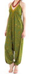 Combinaison-Sarouel Verte pour femme Ethnique et Colorée Teufy 280866