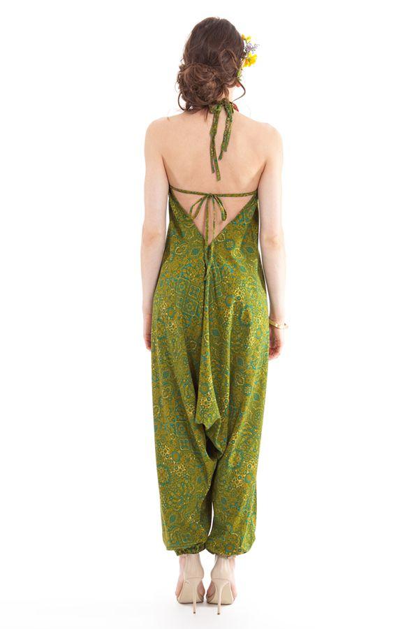 Combinaison-Sarouel Verte pour femme Ethnique et Colorée Teufy 280867