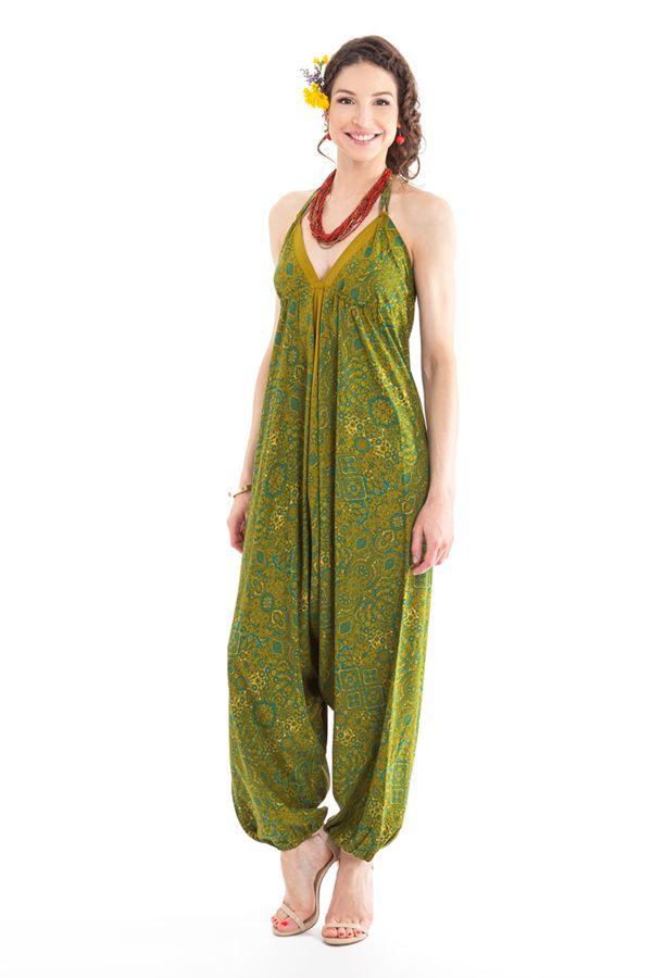 Combinaison-Sarouel Verte pour femme Ethnique et Colorée Teufy 280869