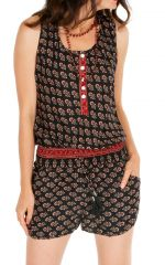 Combinaison short à bretelles pour femme ethnique Cassandra 310038