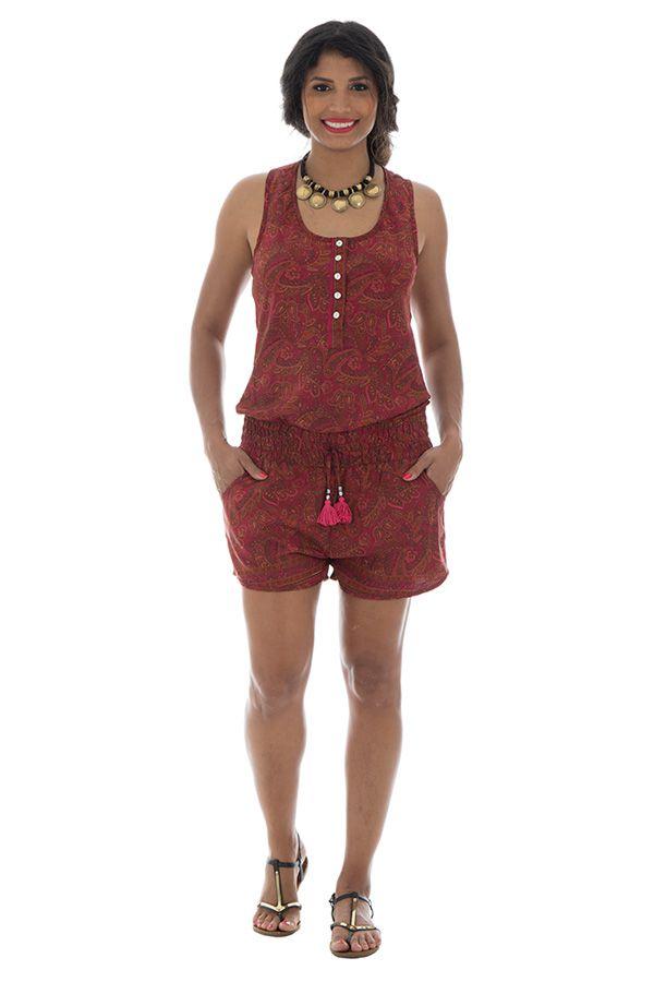 Combinaison short agréable avec ceinture élastique et bretelles larges Tyana 289159